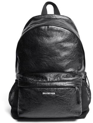 Balenciaga Explorer Textured-leather Backpack - Black