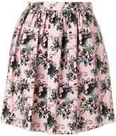 Moschino jacquard pleated mini skirt