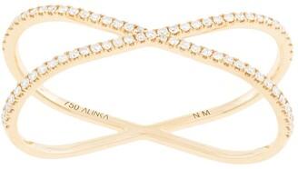 Alinka 18kt yellow gold KATIA DUO two-finger diamond ring