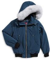 Moose Knuckles Bomber Coat With Fox Fur Trim