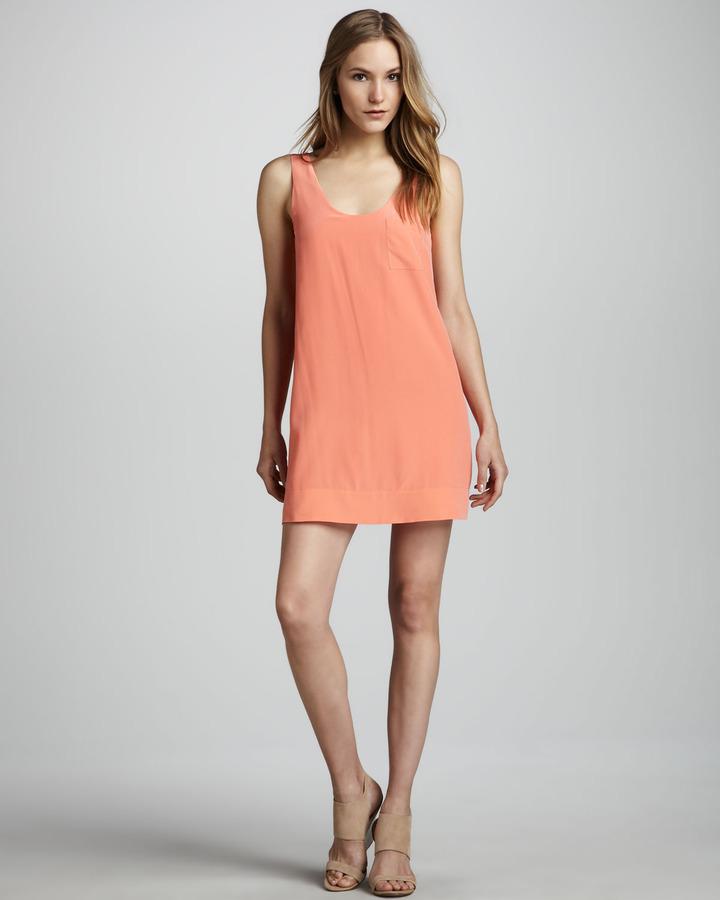 Joie Dawna Sleeveless Silk Dress