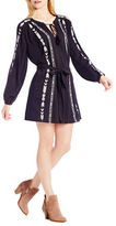 Jessica Simpson Long Sleeve Embroidered Shirtdress