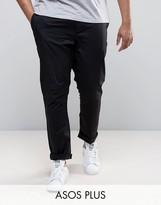 Asos Plus Skinny Chinos In Black