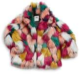 Milly Minis Toddler's, Little Girl's and Girl's Colorful Faux Fur Jacket & Pants Set