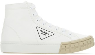 Prada Gabardine Wheel High Top Sneakers