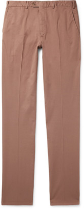 Brioni Slim-Fit Stretch-Cotton Twill Trousers