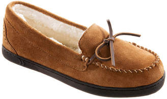 Isotoner Genuine Suede Womens Moccasin Slippers