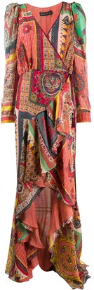 Etro Wrap Front Printed Ruffled Dress