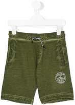 Diesel logo stamp drawstring sweatshorts - kids - Cotton - 8 yrs