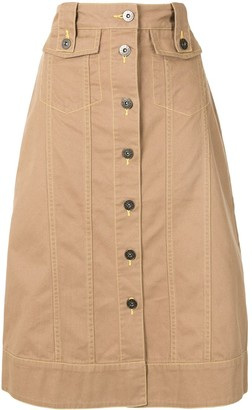 BAPY BY *A BATHING APE® Buttoned Midi Skirt