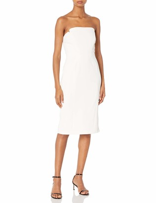 Jill Stuart Jill Women's Short Strapless Crepy Dress