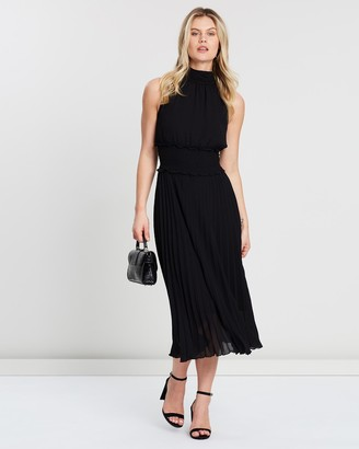 SABA Willa Pleated Midi Dress