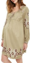 Topshop Women's Embroidered Maternity Peasant Dress