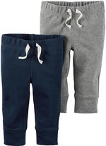 Carter's 2-pk. Navy and Heather Pants - Baby Boys newborn-24m