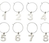 Numbers Wine Charms