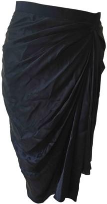 Lanvin Blue Silk Skirt for Women Vintage