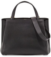 Valextra Triennale Large Leather Tote Bag, Black