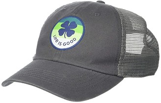 Life is Good LIG Shamrock Soft Mesh Back Cap (Slate Gray) Caps