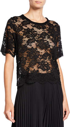 Loyd/Ford Scalloped Lace Tee