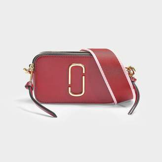Marc Jacobs Snapshot Bag In Red Leather With Polyurethane Coating