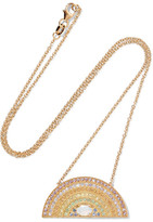 Andrea Fohrman Rainbow 18-karat Gold Multi-stone Necklace - one size