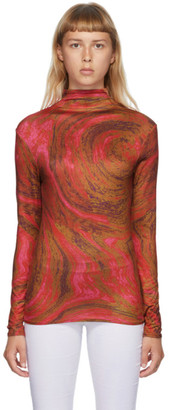 Collina Strada Red Swirl Cardio Nova Turtleneck