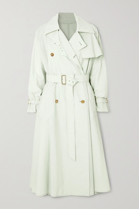 Max Mara Falster Cotton-blend Trench Coat - Light green