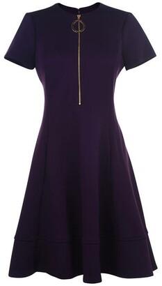 DKNY Short Sleeve Scuba Dress