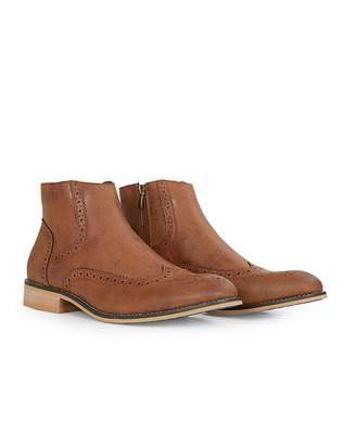 House Of Cavani Footwear Westland Zip Wingtip Chelsea Boots Colour: TA