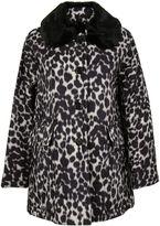 Marc Jacobs Ivory Leopard Print Coat