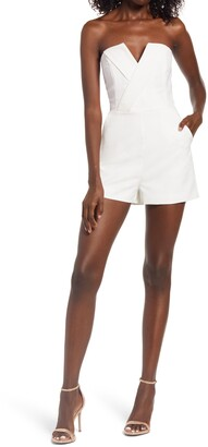 Lavish Alice Strapless Romper
