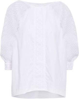 Charo Ruiz Ibiza Crocheted Lace-paneled Cotton-blend Voile Blouse