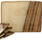 Sango Dinnerware, Set of 4 Avanti Brown Rectangular Dinner Plates