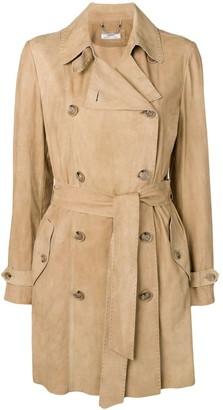 Desa 1972 Suede Trench Coat