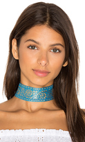Natalie B Marari Choker in Blue.