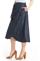 Gap Denim midi wrap skirt