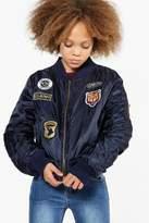 Boohoo Girls MA1 Badged Bomber Jacket