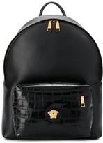 Versace dual-textured backpack