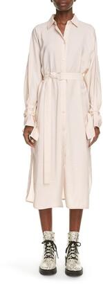 Kenzo Belted Long Sleeve Midi Shirtdress