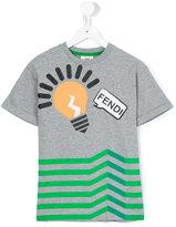 Fendi light bulb print t-shirt - kids - Cotton/Spandex/Elastane - 2 yrs