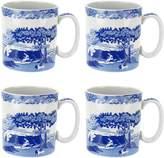 Spode 4-Piece Blue Italian Mug Set