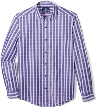Buttoned Down Men's Tailored Fit Supima Cotton Cutaway-Collar Dress Casual Shirt