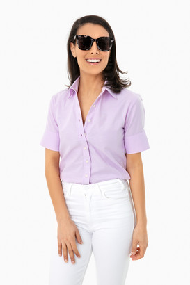 The Shirt By Rochelle Behrens Lilac Oxford Short Sleeve