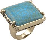 Barse Women's SquareTurquoise Howlite Bronze Ring JUBIR03THW