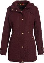 Weatherproof Women's Non-Denim Casual Jackets BORDEAUX - Bordeaux Quilted Hooded Parka - Women & Plus