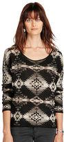Denim & Supply Ralph Lauren Southwestern Boatneck Sweater