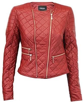 Brave Soul Ladie's Jacket Anne Red UK 14