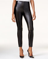 GUESS High-Rise Faux-Leather Leggings