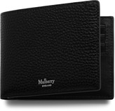 Mulberry 8 Card Wallet Black Natural Grain Leather