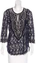 Calypso Embellished Lace Top